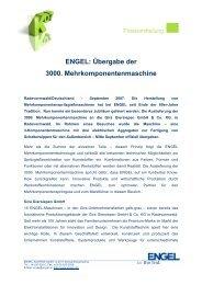 Übergabe der 3000. Mehrkomponentenmaschine - Engel Austria