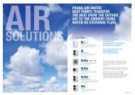 prana air-water heat pumps transfer the heat from the outside air to ...
