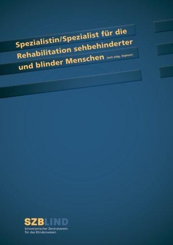 REHA-Lehrgang-Übersicht (pdf) - SZB Schweizerischer ...