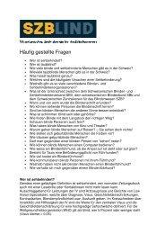 Häufig gestellte Fragen - SZB Schweizerischer Zentralverein für das ...