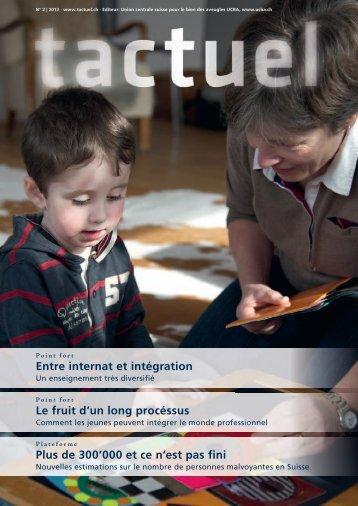 """""""tactuel"""" No. 2 / 2012 pour télécharger (pdf)"""