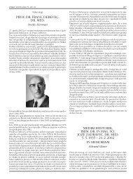 prof. dr. franc debevec, dr. med. medikohistorik, prim. dr. in mag. sci ...