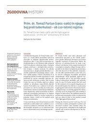 Prim. dr. Tomaž Furlan (1901–1961) in njegov boj proti tuberkulozi
