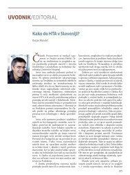 Kako do HTA v Sloveniji?