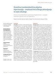 Kronična trombembolična pljučna hipertenzija – možnosti ...