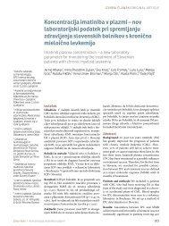 Koncentracija imatiniba v plazmi – nov laboratorijski podatek pri ...