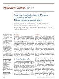 Sočasno zdravljenje s tamoksifenom in z zaviralci CYP2D6
