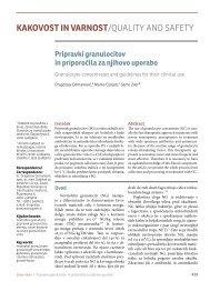 Pripravki granulocitov in priporočila za njihovo uporabo