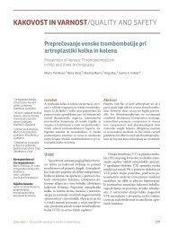 Preprečevanje venske trombembolije pri artroplastiki kolka in kolena