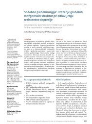 Sodobna psihokirurgija: Draženje globokih možganskih struktur pri ...