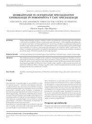 Izobraževanje in ocenjevanje specializantov ginekologije in ...