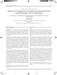 rezultati zdravljenja benigne prostatične obstrukcije s finasteridom
