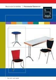 Malscher Sitzmöbel | Programm-Übersicht