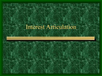 Interest Articulation