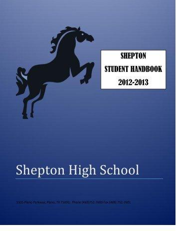 Shepton Student Handbook - K12 - Plano ISD - Plano Independent ...