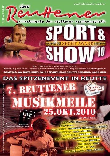 Reuttener Oktober 2010 - Kaufmannschaft Reutte