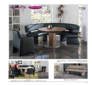 Zusammenstellung: Eckbank 29 / Sessel 7565 31 / Tisch 0812 ...