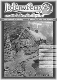 Lidércfény Amatőr Kulturális Folyóirat II.évfolyam 12.szám