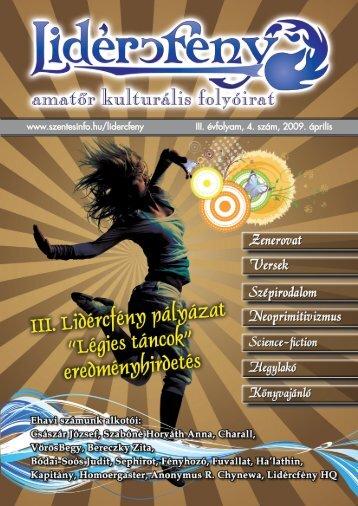 Lidércfény Amatőr Kulturális Folyóirat III. évfolyam 4. szám