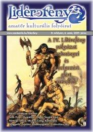 Lidércfény Amatőr Kulturális Folyóirat III. évfolyam 6. szám