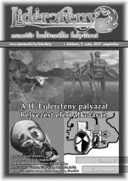Lidércfény Amatőr Kulturális Folyóirat I.évfolyam 9.szám