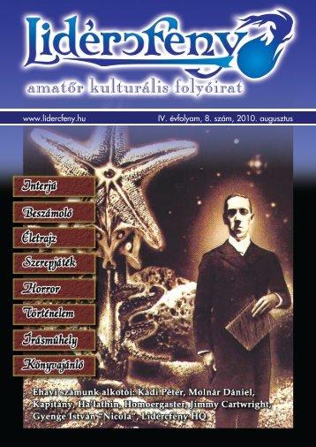 Lidércfény Amatőr Kulturális Folyóirat IV. évfolyam 8. szám