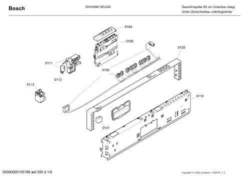 SHV45M13EU/40 Geschirrspüler 60 Cm Unterbau Integr Unter .