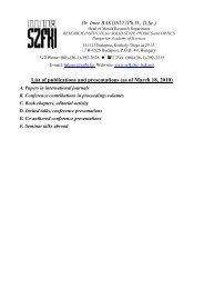 Dr. Imre BAKONYI (Ph.D., D.Sc.) List of publications and ...