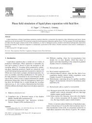 Phase field simulation of liquid phase separation ... - ResearchGate