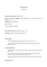 _Curriculum Vitae - MTA SzFKI