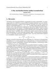 A fény mechanikai hatása optikai rezonátorban 1 ... - MTA SzFKI