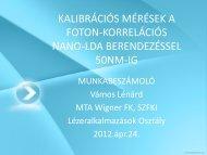 prezentáció - MTA SzFKI
