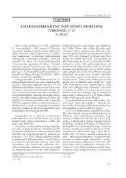 A háromszéki kilenc fAlu közös erdejének törvénye, 1713 - Székely ...