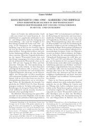HANS REINERTH 1900−1990  KARRIERE UND IRRWEGE