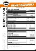 M IETPREISLISTE Stand A pril 2012 - BGU Baumarkt - Page 6