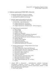 Załącznik Nr 1 do Aneksu do Regulaminu Organizacyjnego