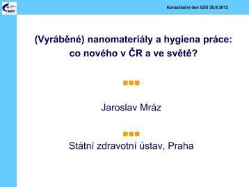 nanomateriály a hygiena práce - Státní zdravotní ústav