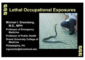 1) Occupational Exposures