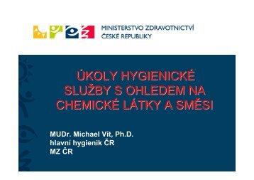 úkoly hygienické služby s ohledem na chemické látky a směsi