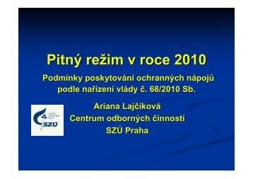 lajcikova_Pitný režim v roce 2010