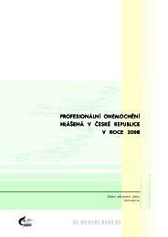 profesionální onemocnění hlášená v české republice v roce 2008