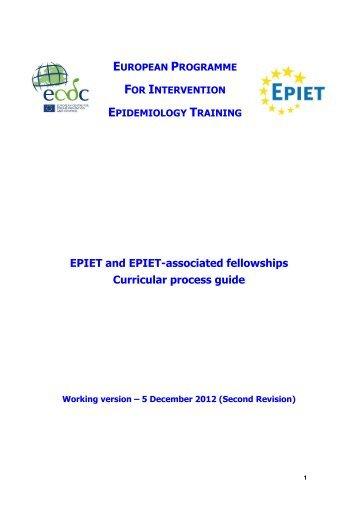 EUROPEAN PROGRAMME FOR - ECDC - Europa
