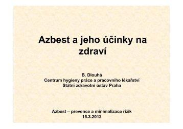 2_Dlouhá_Azbest a jeho účinky na zdraví - Státní zdravotní ústav