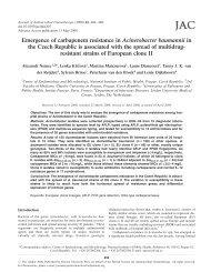 Emergence of carbapenem resistance in Acinetobacter baumannii ...