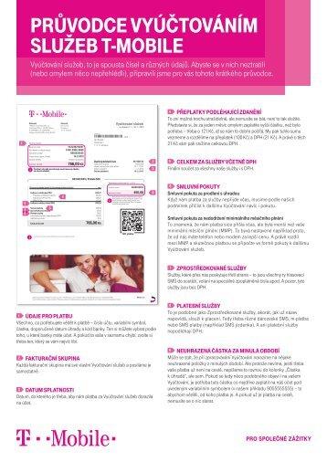 Vyúčtování služeb T-Mobile - průvodceVyúčtování služeb, to