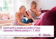 Ceník služeb T-Mobile - 2010 červenecCeník tarifů a služeb pro ...