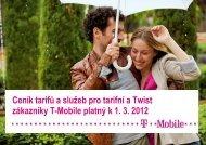 Ceník služeb T-Mobile - 2012 březenCeník tarifů a služeb pro tarifní ...