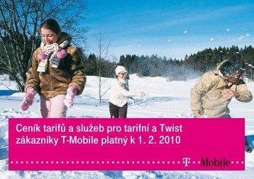 Ceník tarifů a služeb pro tarifní a Twist zákazníky T-Mobile platný k 1 ...
