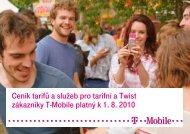 Ceník služeb T-Mobile - 2010 srpenCeník tarifů a služeb pro tarifní a ...