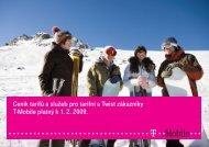 Ceník služeb T-Mobile - 2009 únor